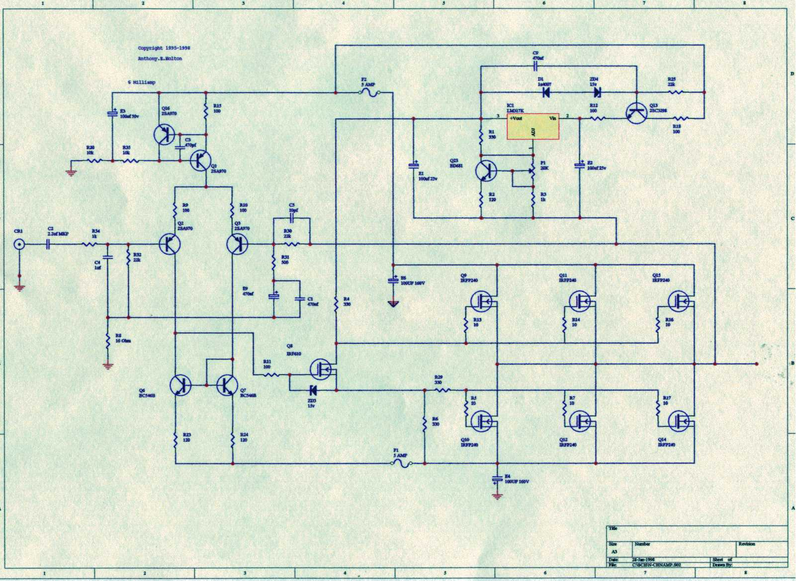 IRFP240 amp IRFP9240 power amplifier schematic Page 3 diyAudio