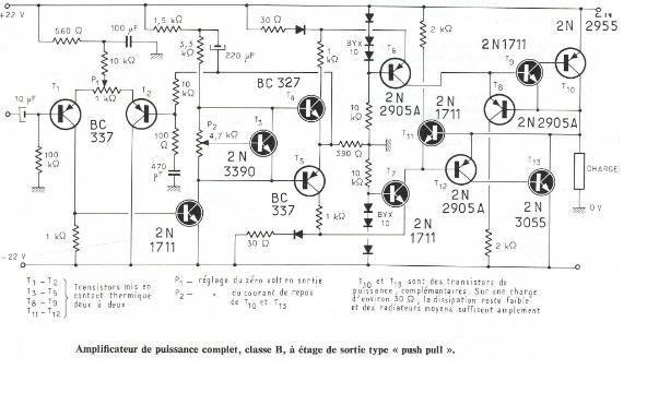 chema diagramme ampli de puissanse 1000w