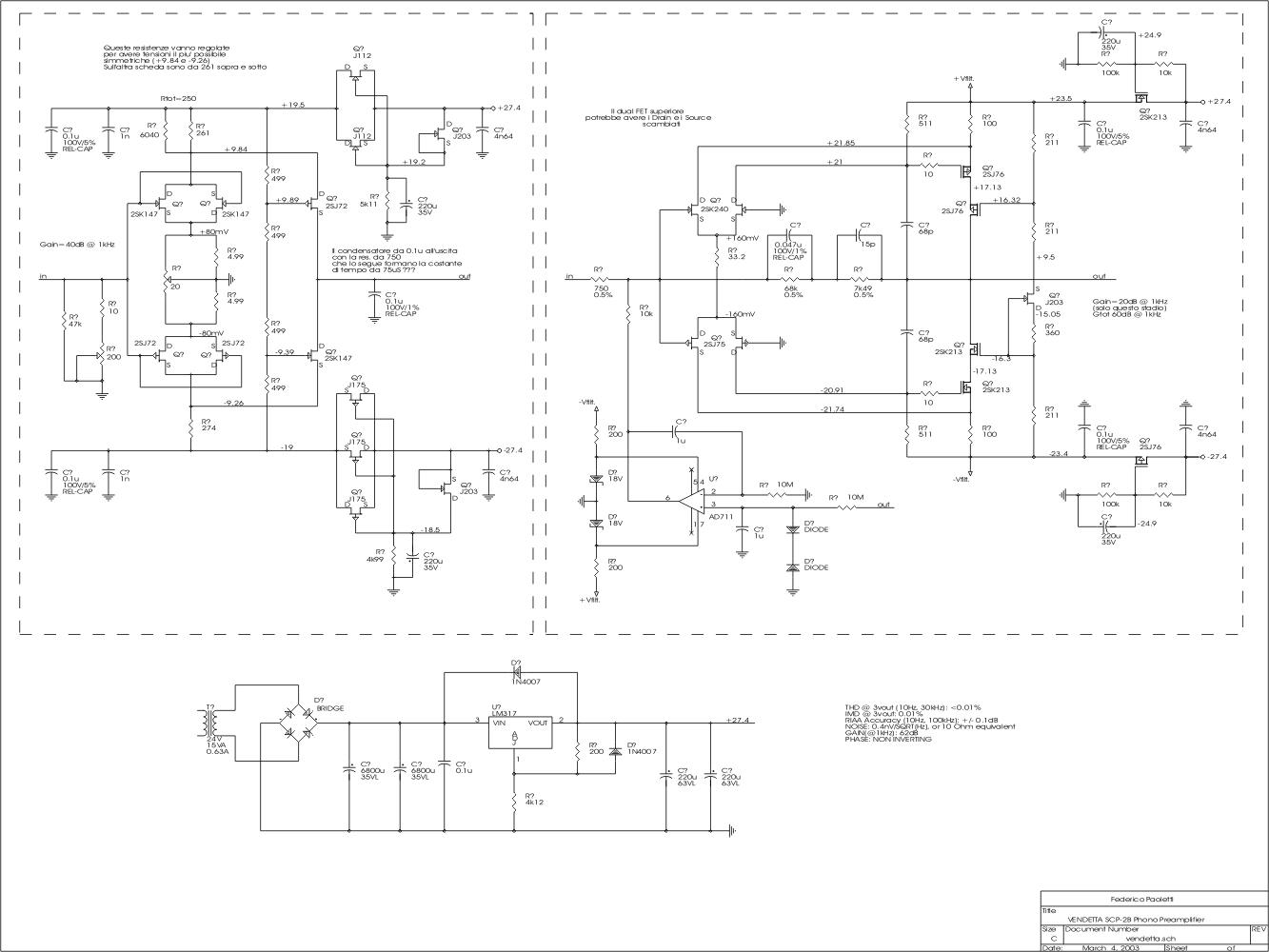Schema Elettrico Quad : Amplimos one stage amplifiers amplificatori audio monostadio